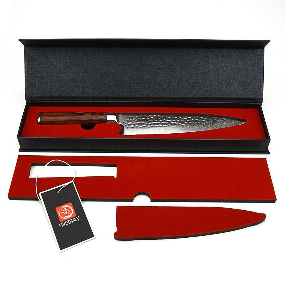 Yarenh Damascus Chef Knife 8 inch,Sharp Blade Professional K