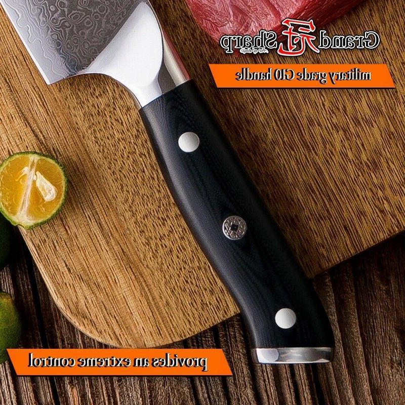 Chef's vg10 Japanese Damascus Steel Kitchen Knives Cuisine
