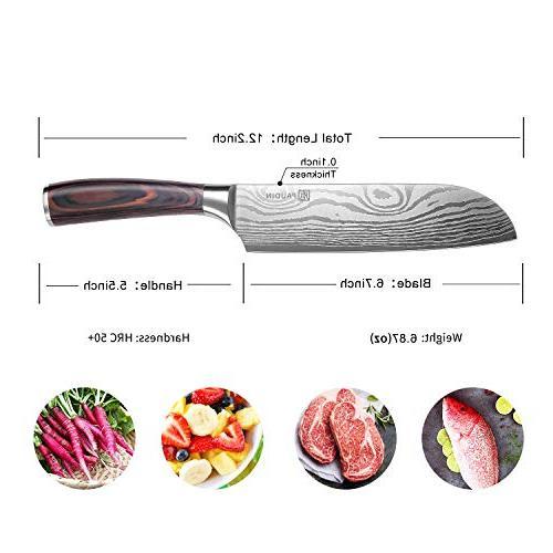 PAUDIN Classic inch Hollow Santoku Knife, German Steel Kitchen Knife