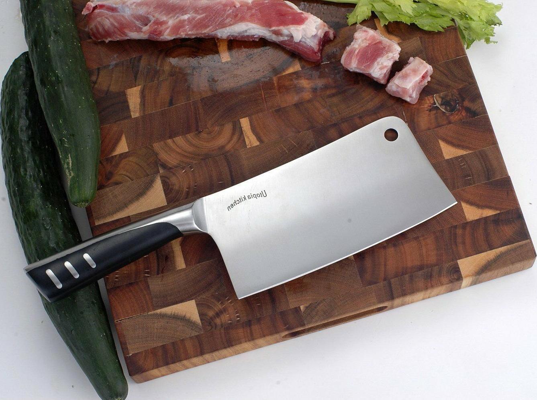 "Cleaver Chopper Stainless Steel Butcher 7"" Restaurant Home Utopia"