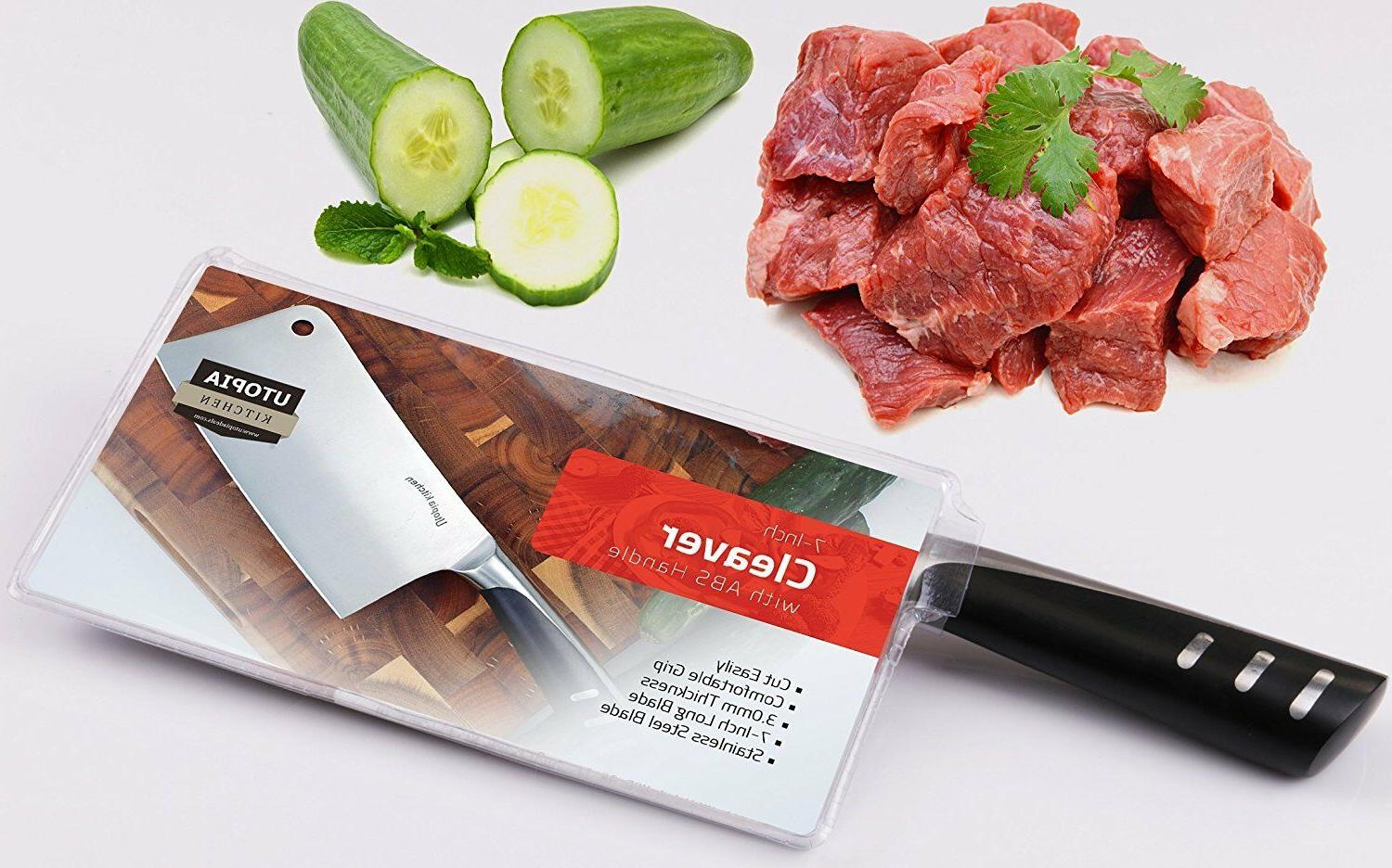 """7"""" Cleaver Stainless Steel Cleaver Utopia Kitchen"""