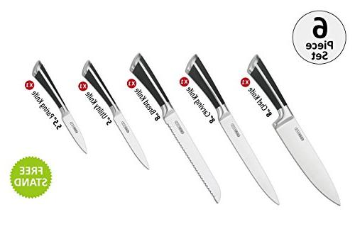 Cookmate Grade Steel Set 6PCS Acrylic Stand High Steel Durability - Great Commercial Kitchens Unity