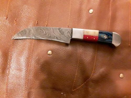 Custom handmade knife set. Texas American handles