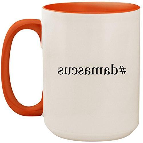 #damascus - 15oz Ceramic Colored Inside and Handle Coffee Mu