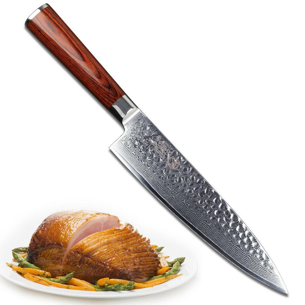 "YARENH Chef Knife 8"" inch - Kitchen Knife - Japanese Damascu"