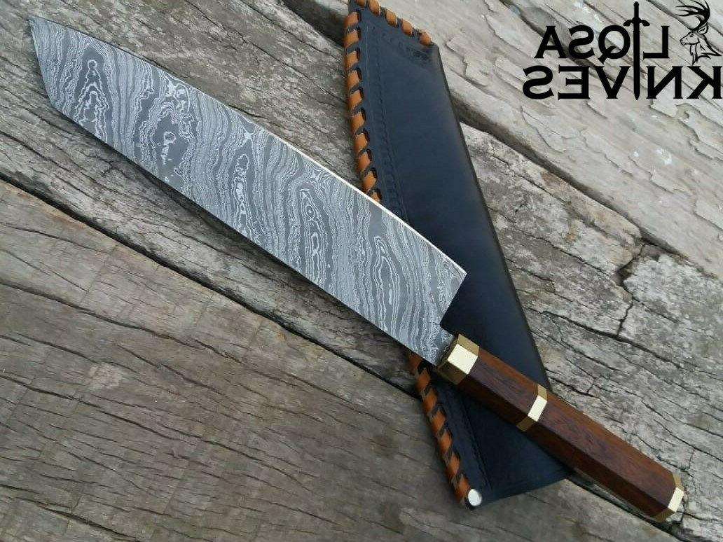 DAMASCUS KNIVES KNIFE KNIVES LEATHER