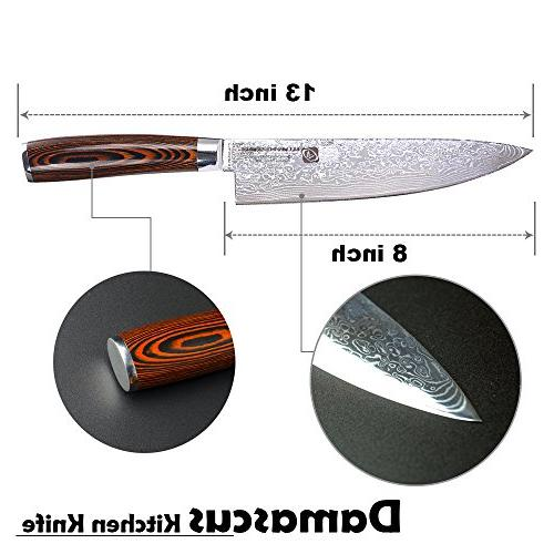 Professional Damascus 67-layer Chef Knife, Super Steel