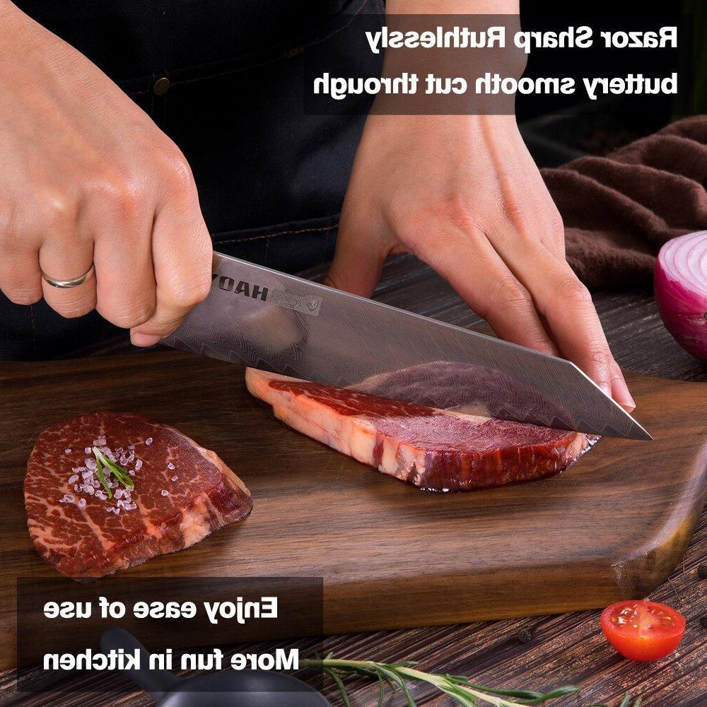 Damascus steel Japanese <font><b>knives</b></font> G10 handcraft cutlery