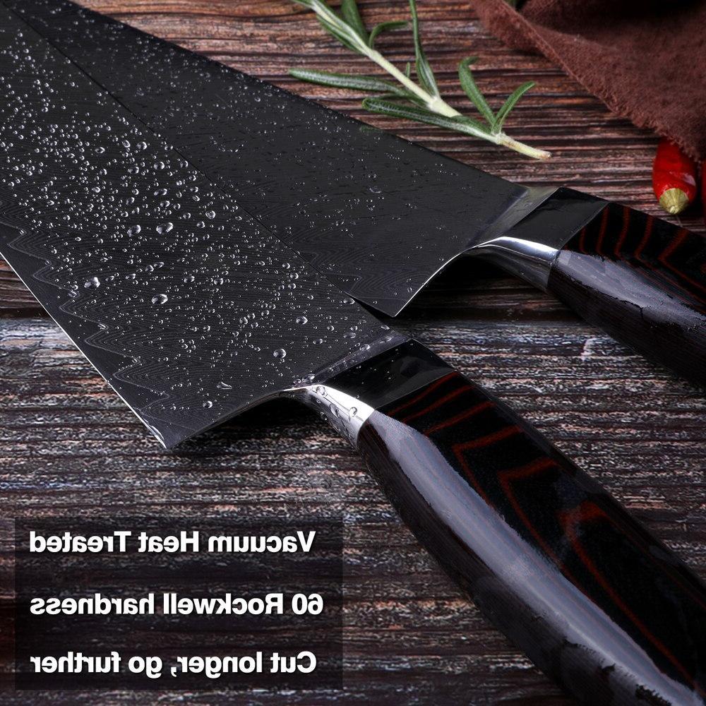 Damascus Japanese vg10 <font><b>knives</b></font> G10 handle handcraft blade cutlery