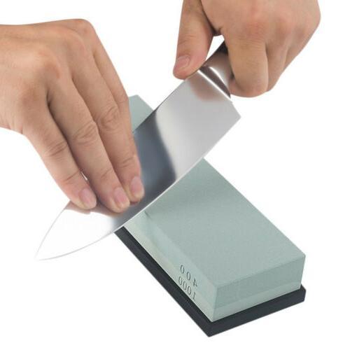 Dual Knife Sharpening Sharpener Stone Double Whetstone