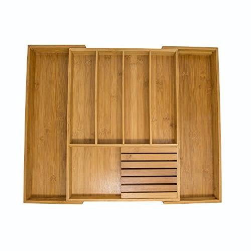 expandable bamboo kitchen drawer