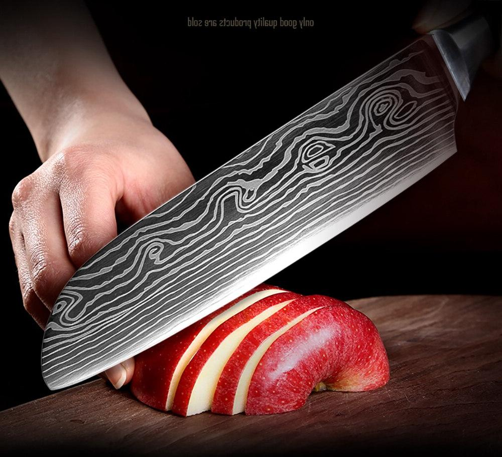 XITUO High Utility <font><b>Knives</b></font> Damascus <font><b>Santoku</b></font> <font><b>Knives</b></font> Cleaver Gift