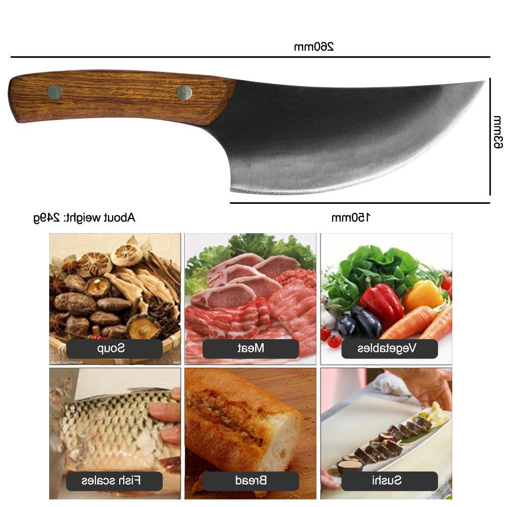 Qing Forged Butcher <font><b>Knife</b></font> <font><b>High</b></font> <font><b>Carbon</b></font> Steel Chinese Chef Handmade <font><b>Kitchen</b></font>