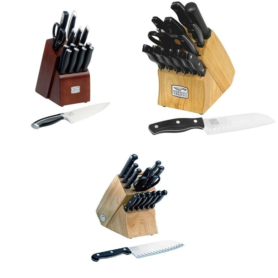 fusion knife block set kitchen knives stainless