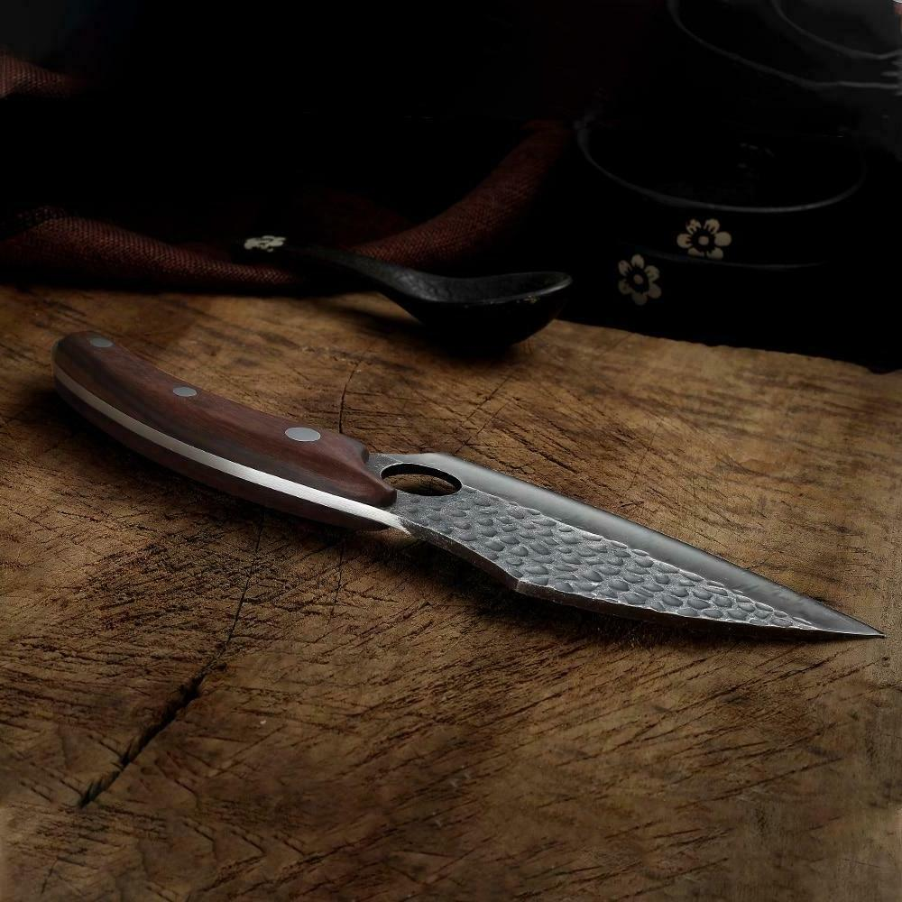Handcrafted Full Tang Ebony Handle Clever Chef