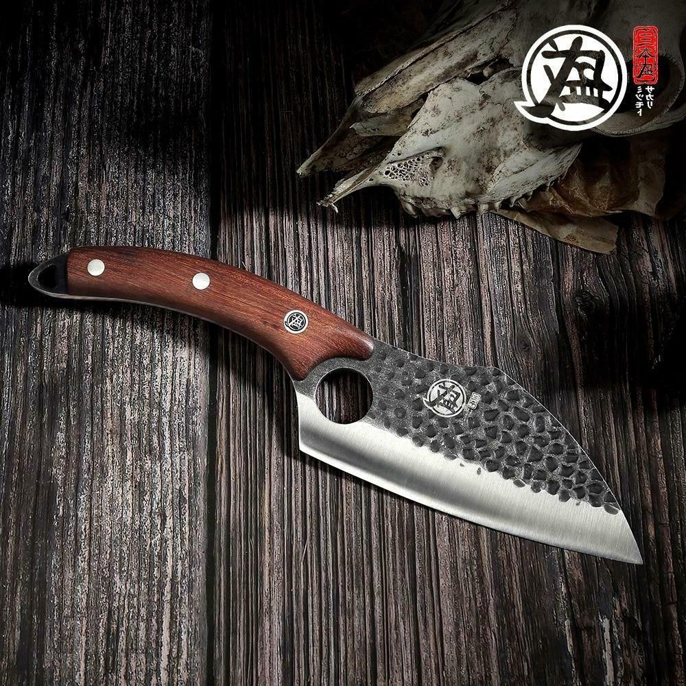 handcrafted boning knife full tang ebony handle