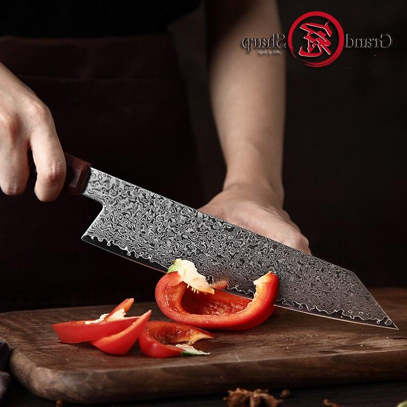 Handmade <font><b>Kitchen</b></font> Japanese Damascus Chef <font><b>Knife</b></font> VG10 Japanese Damascus <font><b>Knives</b></font> Tools