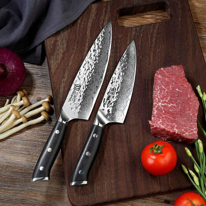 TWIN Damascus Chef's Knives Japanese AUS-10 Steel Vegetable