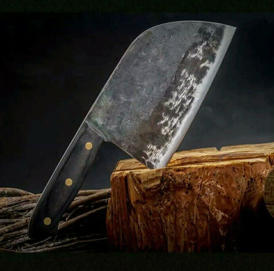 hunters serbian chef knife steel kitchen handmade