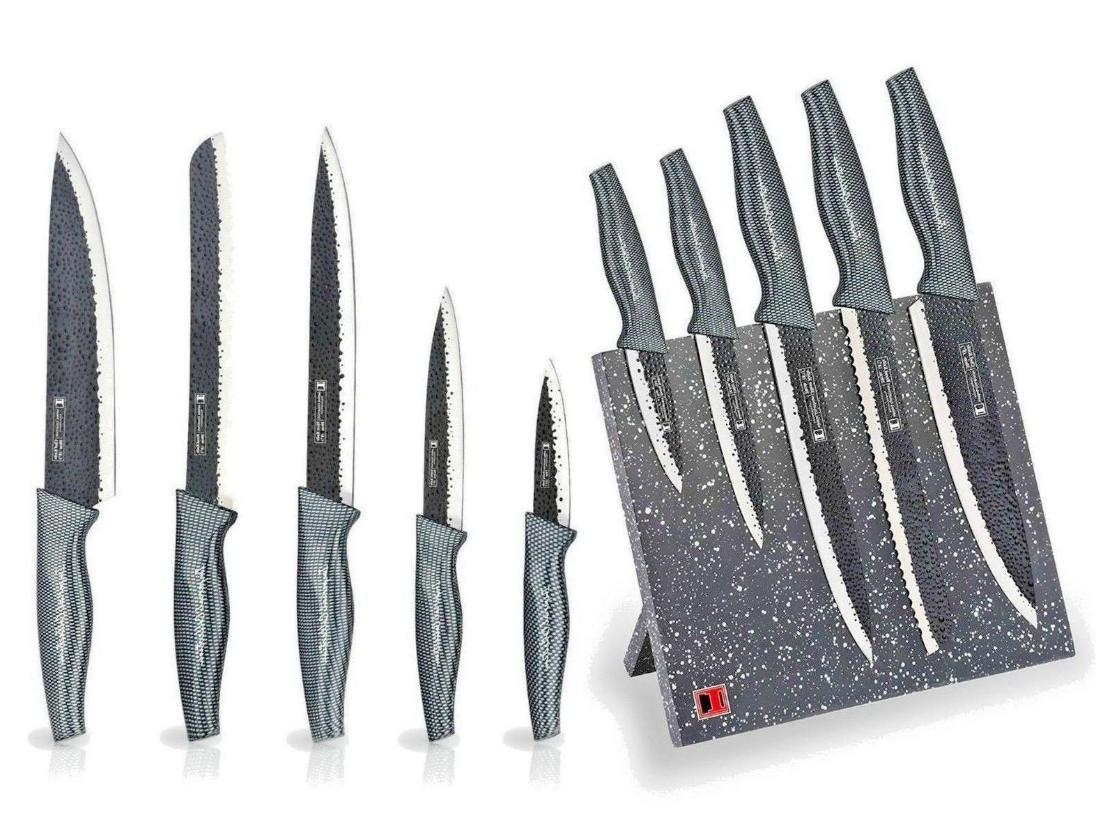 Imperial 6 Pc Stainless Steel Kitchen Knives or Knife Set w/