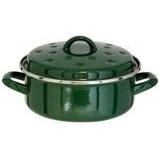 induction green round roaster