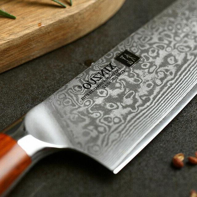 Japanese Damascus Kitchen VG10 8.5'' stainless steel