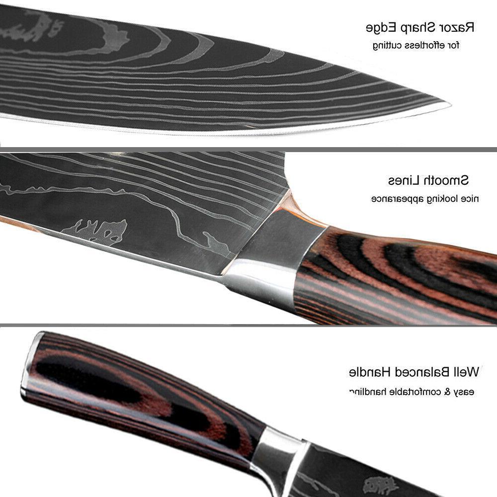 5 Kitchen Knives Set Japanese Stainless