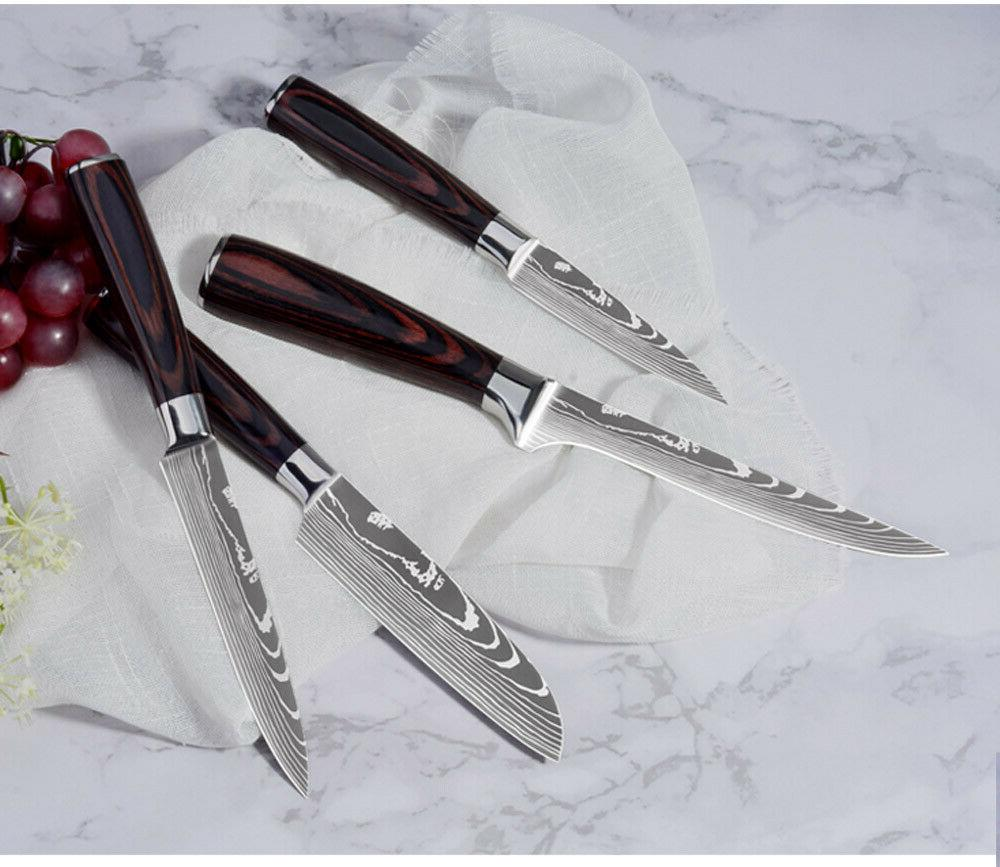 Japanese Stainless Kitchen Knives Damascus Pattern