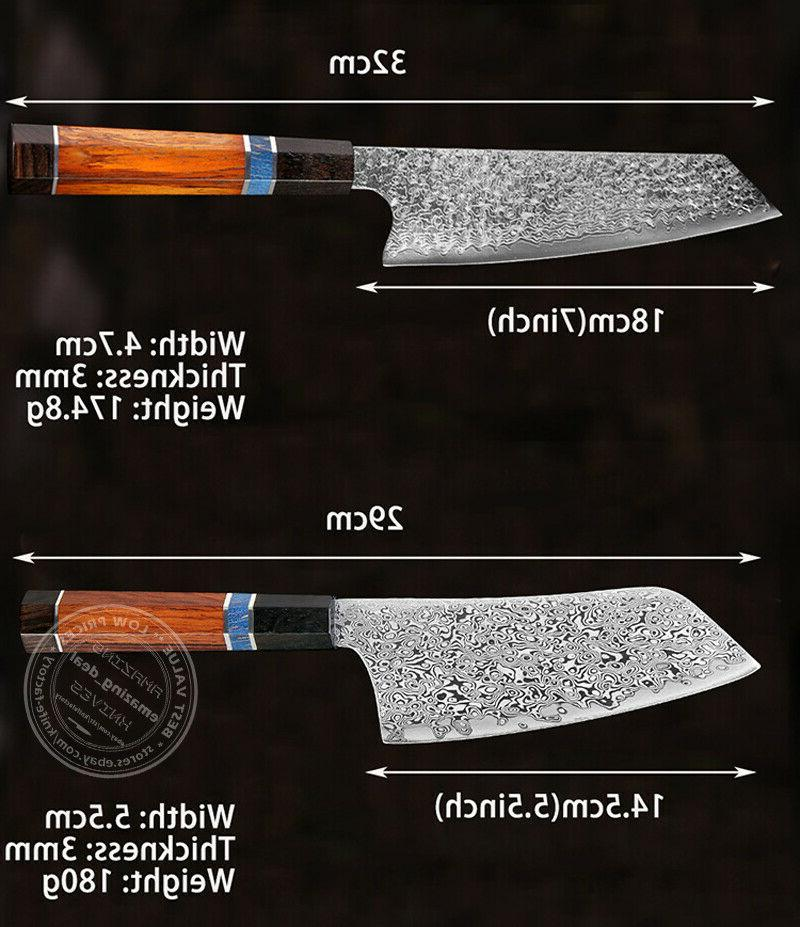 Japanese Damascus Knives Octagonal