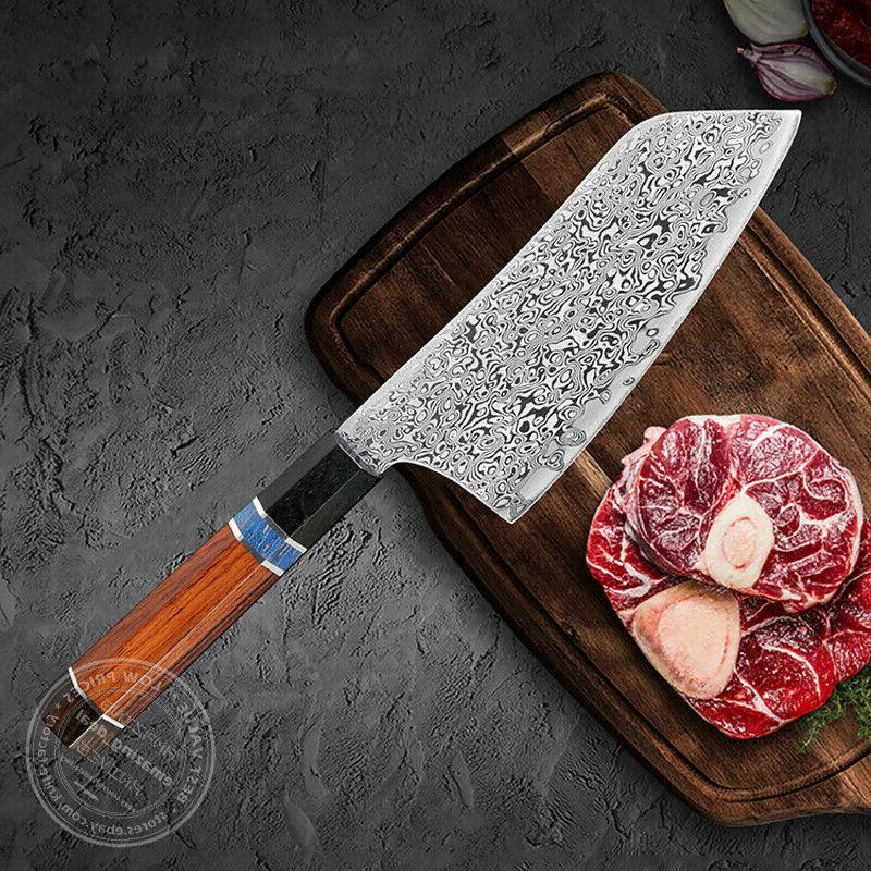 Japanese Damascus Knife Knives Octagonal