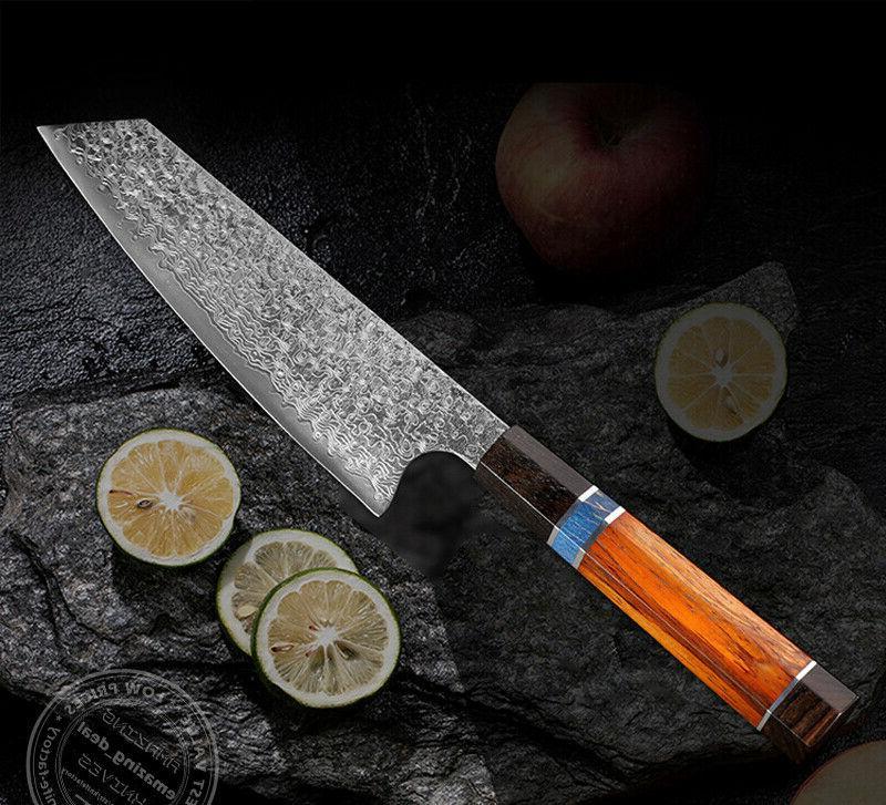 Japanese Kiritsuke Knife Damascus Chef Knives Octagonal