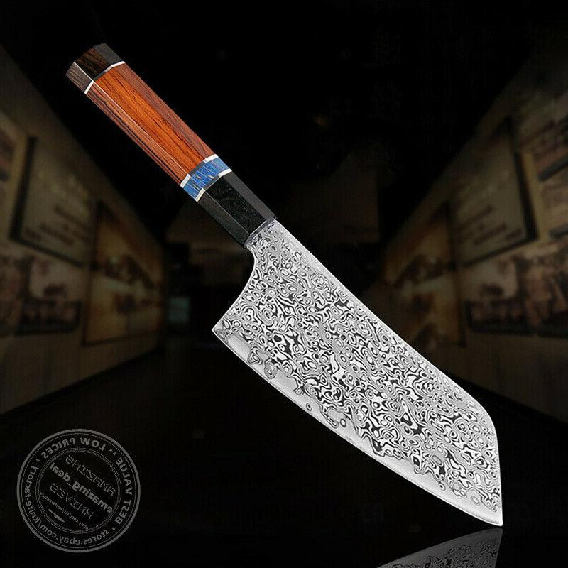 japanese style kiritsuke knife damascus chef knife