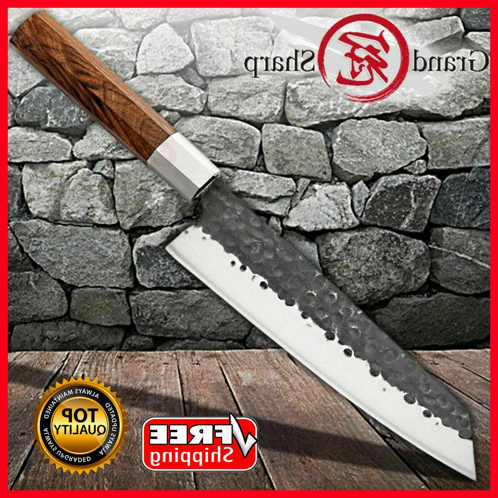 kiritsuke knife handmade chef kitchen knives wood