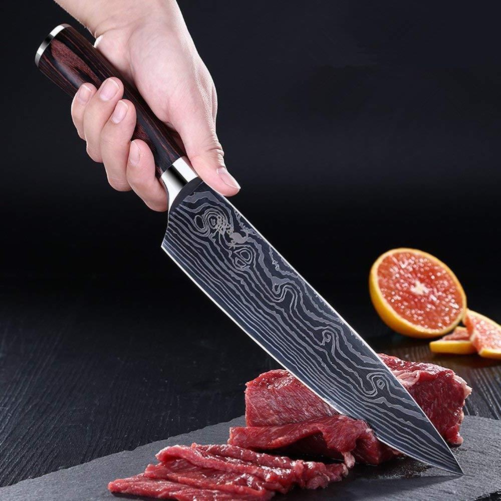 kitchen 8 sharp carbon chefs knife japanese
