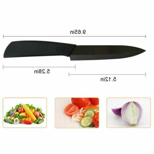 "Kitchen Ceramic 3"" Black Blade Cutlery Peeler USA"