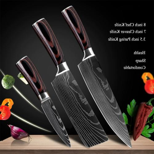 Kitchen Knives Carbon Steel Damascus Professional