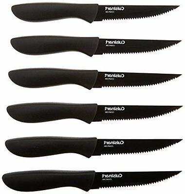 Kitchen Cutlery Knife Set Cuisinart 6-Pc Ceramic Coated Stea