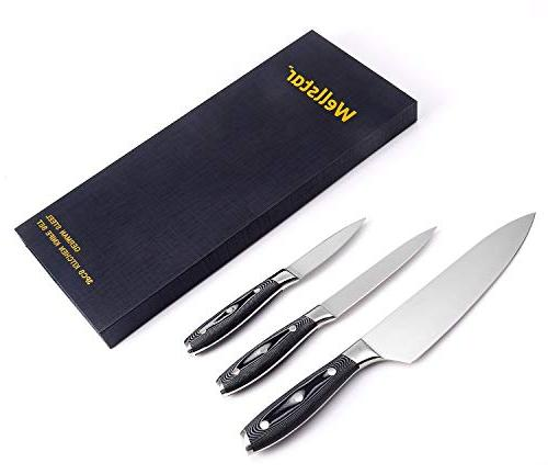 Kitchen Piece WELLSTAR, German Steel Blade with Professional G10 Handle, Chef Utility Well Balanced for Dicing - Gift Box