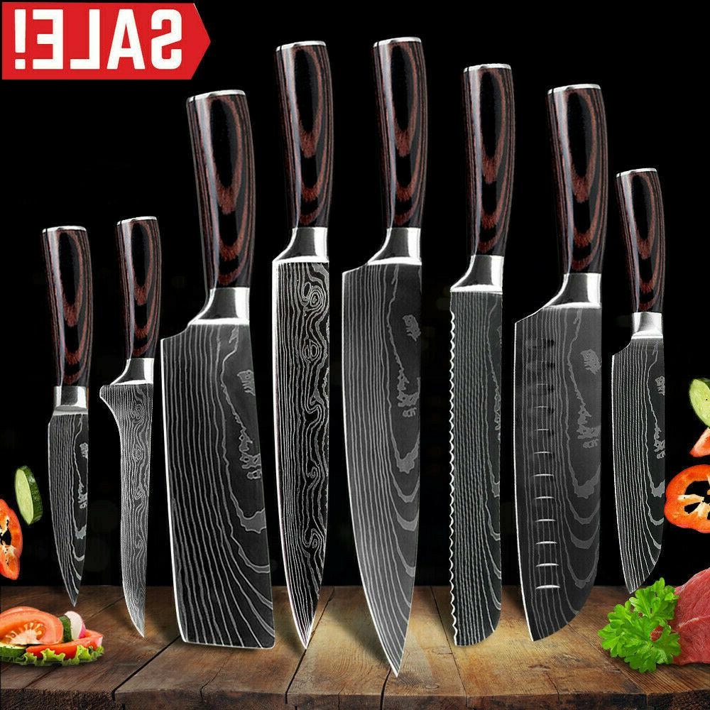 kitchen knife set high carbon stainless steel