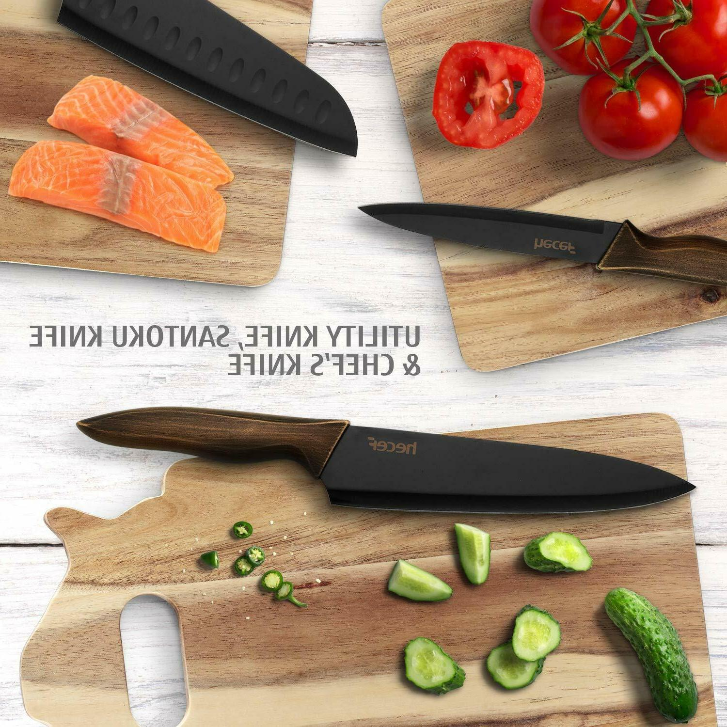 Kitchen Knife Set, Stainless Color Blade