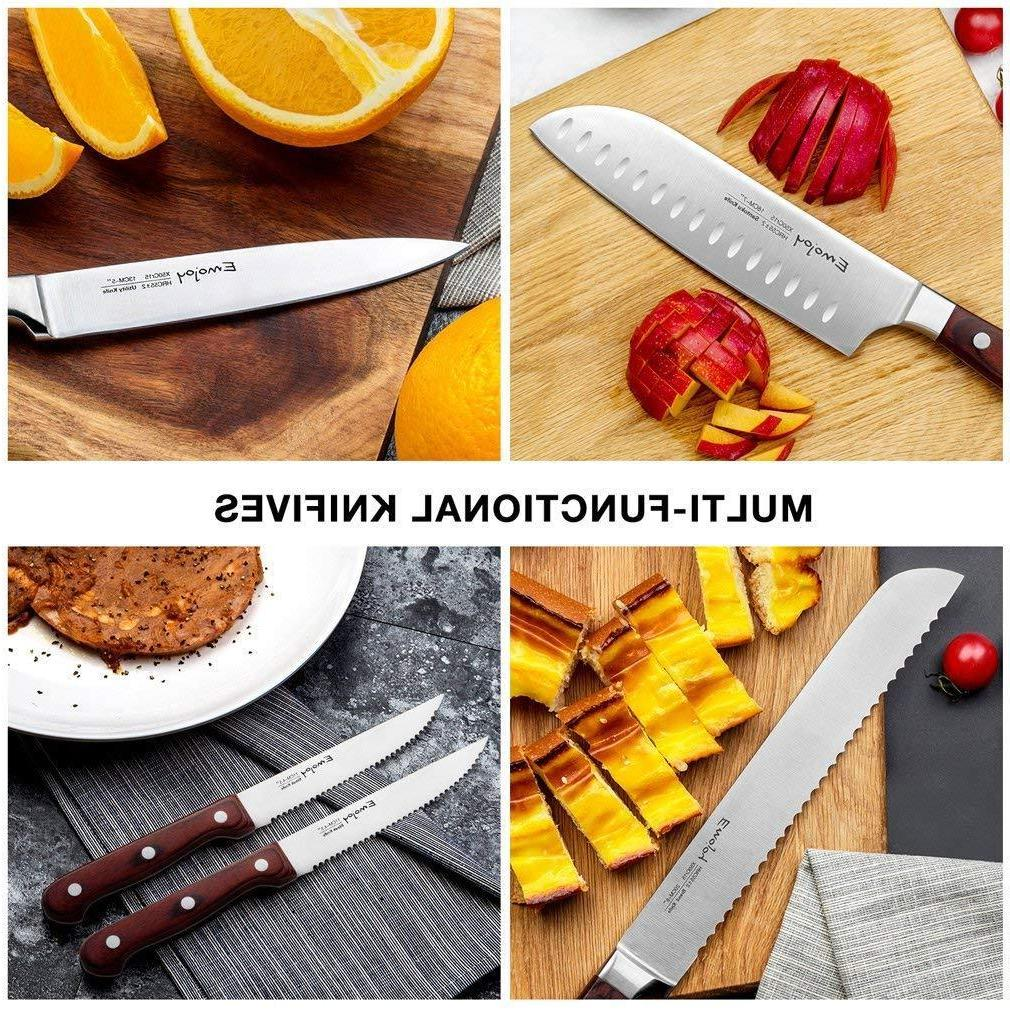 Kitchen Knife with Block Steel
