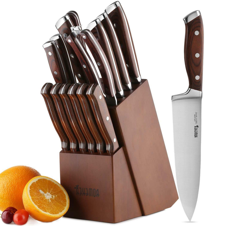 Kitchen Knife Set Block Steel