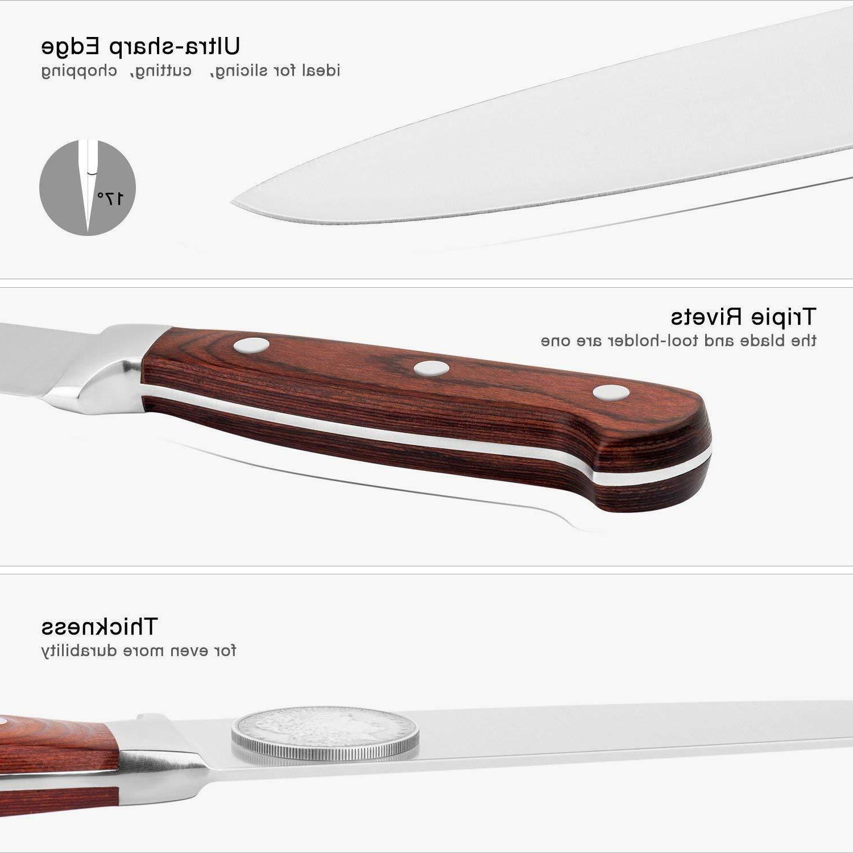 Kitchen Knife Block Wooden Steel