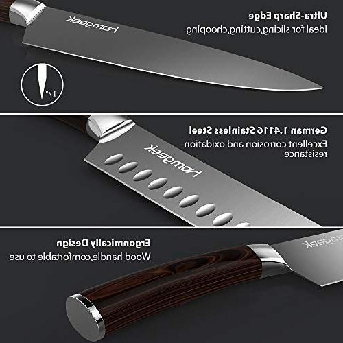 Homgeek Chef Knives,8 inch Chef Knife & inch Santoku Knife,Germany Handle