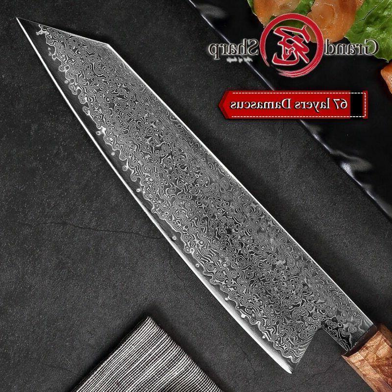Damascus Japanese Chef Kiritsuke Knife Pro