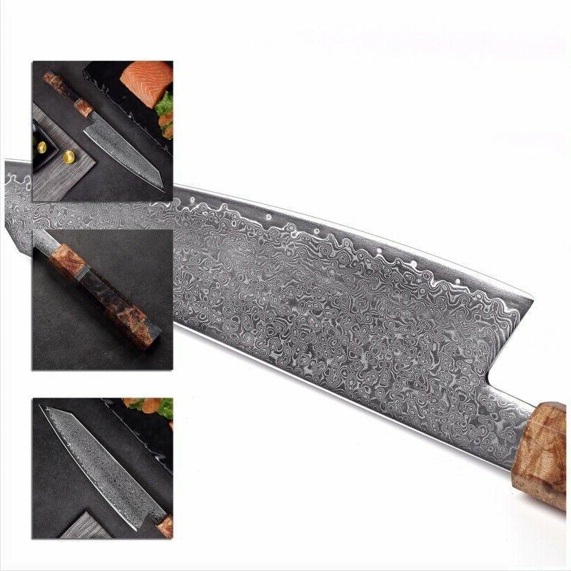 Damascus Japanese Steel Kiritsuke Knife