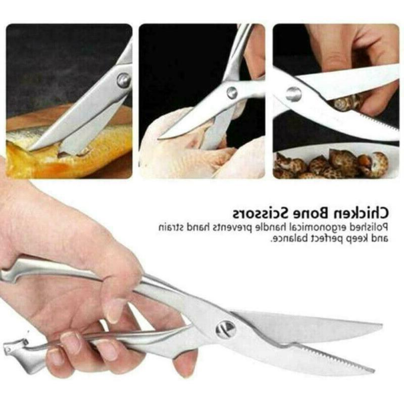 Kitchen Steel Poultry Fish Scissors Knives