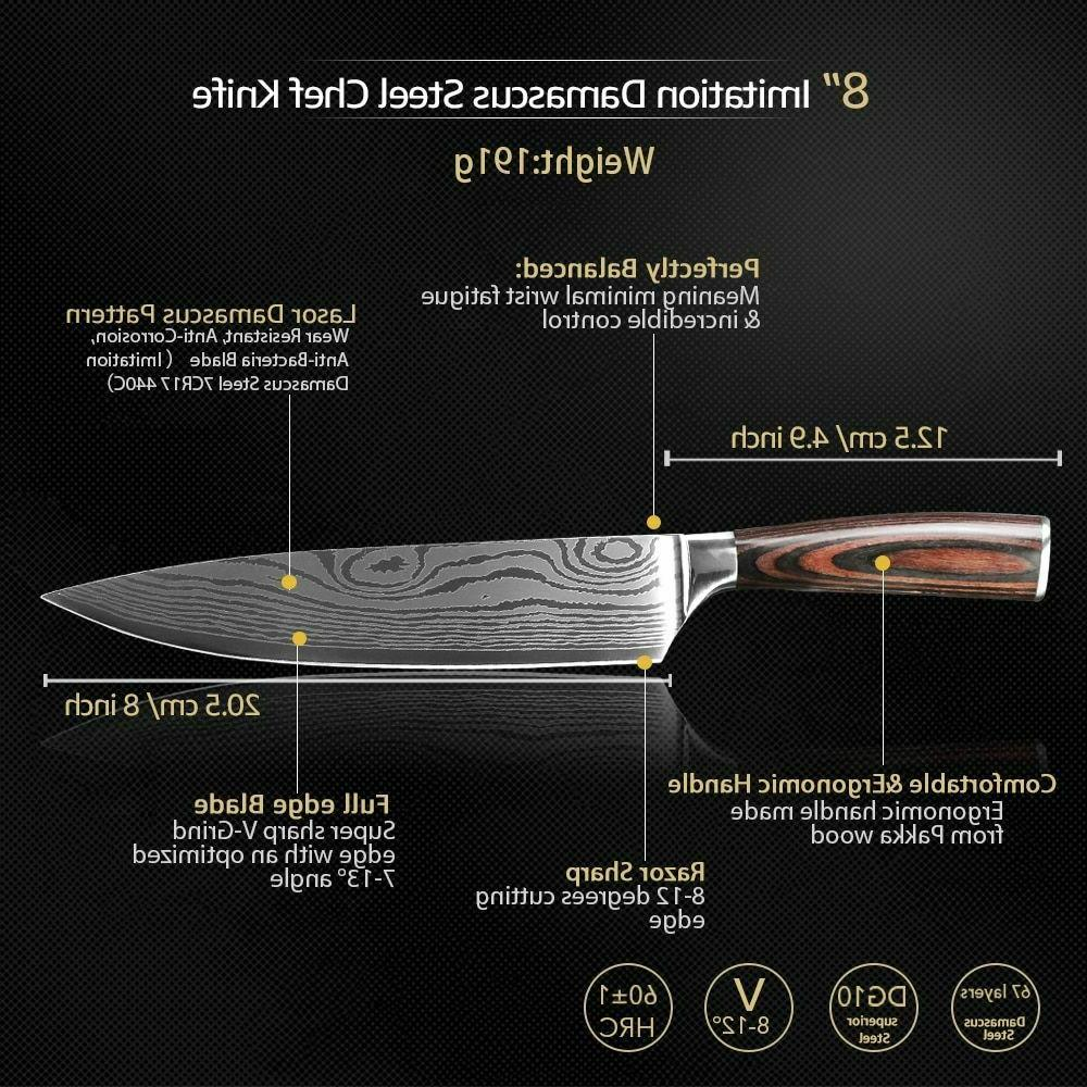Kitchen Knife Chef High Stainless Steel Damascus