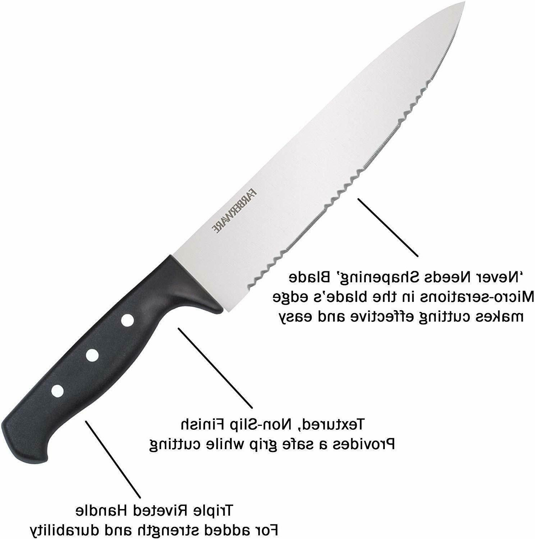 Knife Block Triple Rivet Steel Kitchen