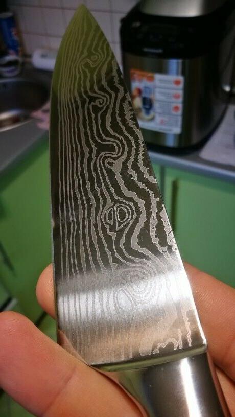 Knife Chef Damascus Knives Sharp Cleaver